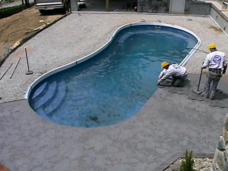Clearwater pools pool installation inground pool for Concrete inground pools